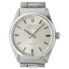 Rolex Air-King 5500, Silver Dial, Certified and Warranty