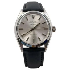 Rolex Air King 5500 Stainless Steel Leather Band