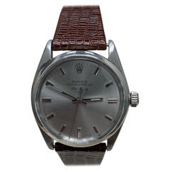 Rolex Air King 5500 Stainless Steel with Leather Band