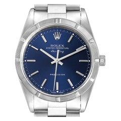Rolex Air King Blue Dial Oyster Bracelet Men's Watch 14010