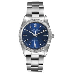 Rolex Air King Blue Dial Oyster Bracelet Watch