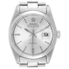 Rolex Air King Date Vintage Stainless Steel Silver Dial Men's Watch 5700