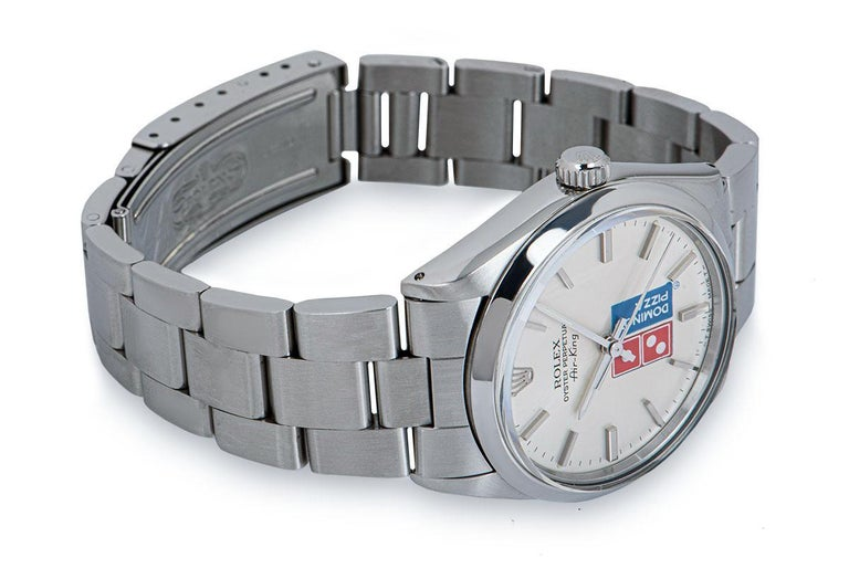 Rolex Air-King Gents Stainless Steel Silver Dominos Pizza Dial 5500 For Sale 1