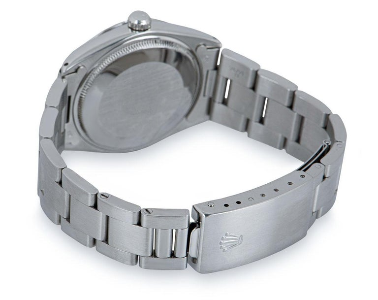 Rolex Air-King Gents Stainless Steel Silver Dominos Pizza Dial 5500 For Sale 2