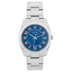 Rolex Air-King Men's Stainless Steel Blue Dial Watch 114234