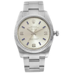 Rolex Air-King Oyster Perpetual Steel Gold Silver Dial Unisex Watch 114234