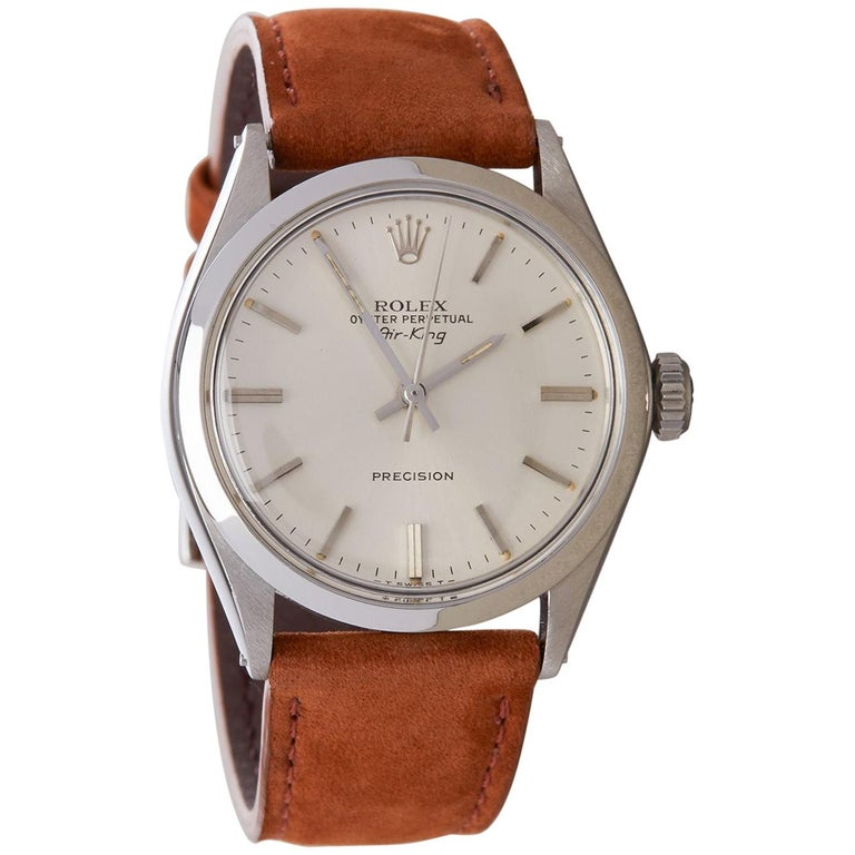 Rolex Air-King Precision 5500 Men's Stainless Steel Watch For Sale