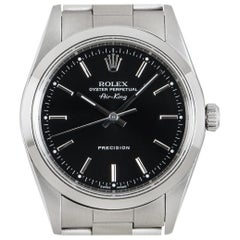 Rolex Air-King Precision Gents Stainless Steel Black Dial 14200