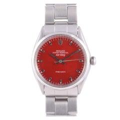 Rolex Air King Red Dial Wrist Watch