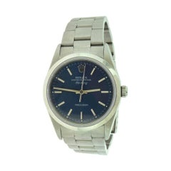Rolex Air King Ref.14000 Oyster Perpetual Blue Dial Steel Watch, Vintage 'R-12'
