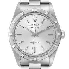 Rolex Air King Silver Dial Oyster Bracelet Steel Mens Watch 14010