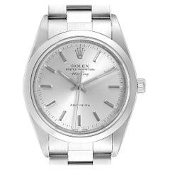 Rolex Air King Silver Dial Oyster Bracelet Steel Men's Watch 14000