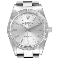 Rolex Air King Silver Dial Oyster Bracelet Steel Men's Watch 14010