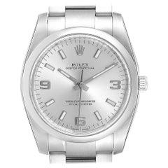 Rolex Air King Silver Dial Steel Men's Watch 114200 Unworn