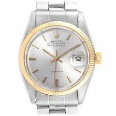 Rolex Air King Silver Dial Vintage Steel Yellow Gold Men's Watch 5701