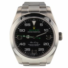 Rolex Air King Steel Black Dial Men's Automatic Watch 116900