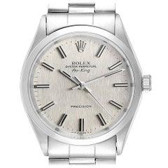 Rolex Air King Vintage Silver Linen Dial Steel Men's Watch 5500