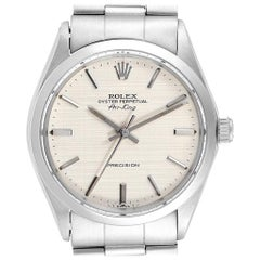 Rolex Air King Vintage Stainless Steel Linen Dial Men's Watch 5500