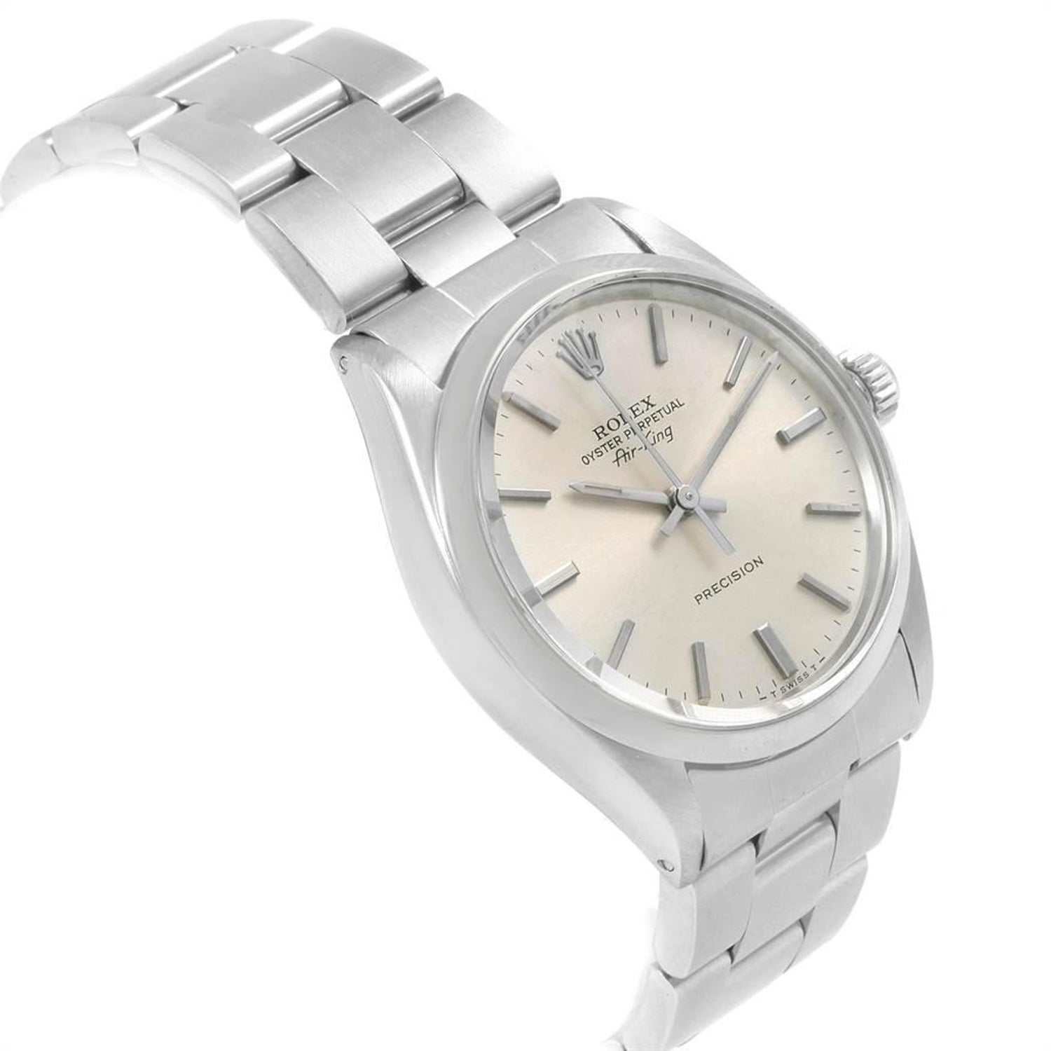 f685e524c377 Rolex Air King Vintage Stainless Steel Silver Dial Men s Watch 5500 For  Sale at 1stdibs