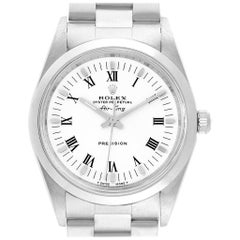 Rolex Air King White Dial Domed Bezel Men's Watch 14000