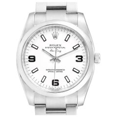 Rolex Air King White Dial Domed Bezel Steel Men's Watch 114200