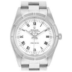 Rolex Air King White Dial Steel Men's Watch 14010 Box