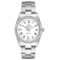 Rolex Air King White Dial Steel Men's Watch 14010 Box