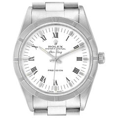 Rolex Air King White Dial Steel Men's Watch 14010 Box Papers