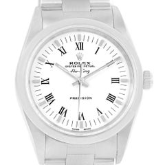 Rolex Air King White Roman Dial Oyster Bracelet Men's Watch 14000
