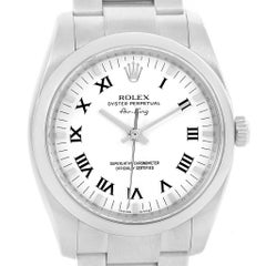 Rolex Air King White Roman Dial Steel Unisex Watch 114200 Box