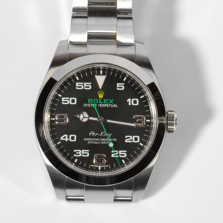 Contemporary Rolex Air King with Box, circa 2019 For Sale
