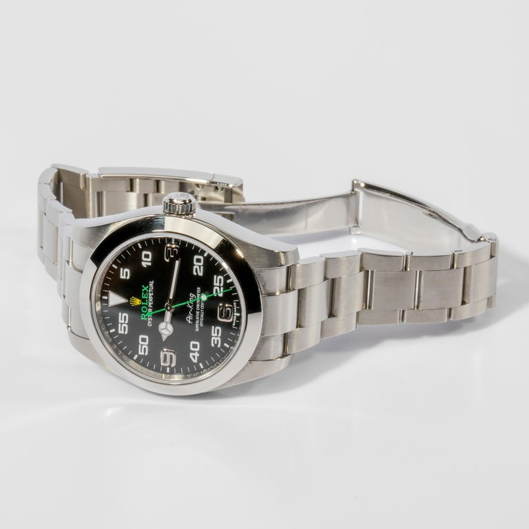 Rolex Air King with Box, circa 2019 In Excellent Condition For Sale In Southbury, CT