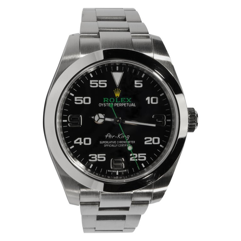 Rolex Air King with Box, circa 2019 For Sale