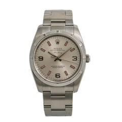 Rolex Air-King 114210, Silver Dial Certified Authentic