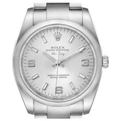 Rolex Airking Oyster Perpetual Silver Dial Steel Men's Watch 114200