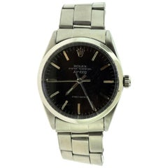 Rolex Airking Ref. 5500 Oyster Perpetual Stainless Steel Black Dial Watch 'R-10'
