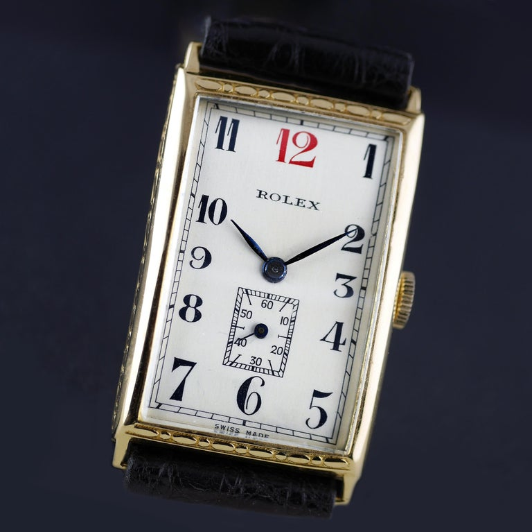 Rolex Art Deco, Gold, 1927 In Excellent Condition For Sale In London, GB