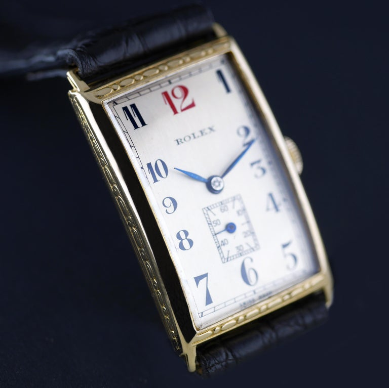 Women's or Men's Rolex Art Deco, Gold, 1927 For Sale