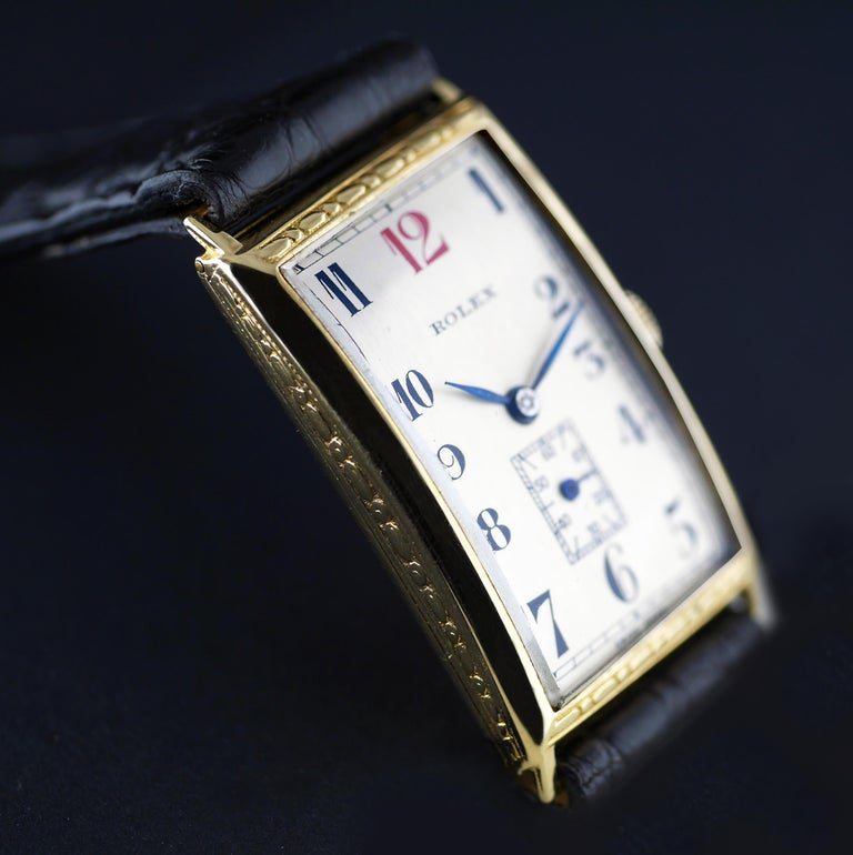 Rolex Art Deco, Gold, 1927 For Sale 1
