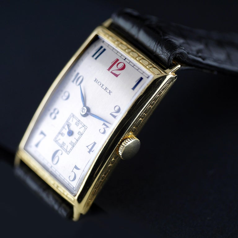 Rolex Art Deco, Gold, 1927 For Sale 2