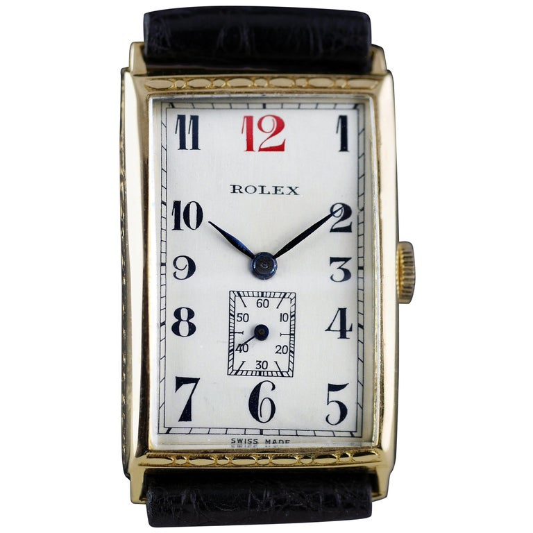 Rolex Art Deco, Gold, 1927 For Sale