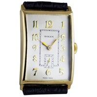Rolex Art Deco Gold Wristwatch, 1930