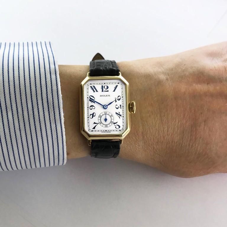 Rolex Art Deco Gold Wristwatch, 1933 For Sale 6