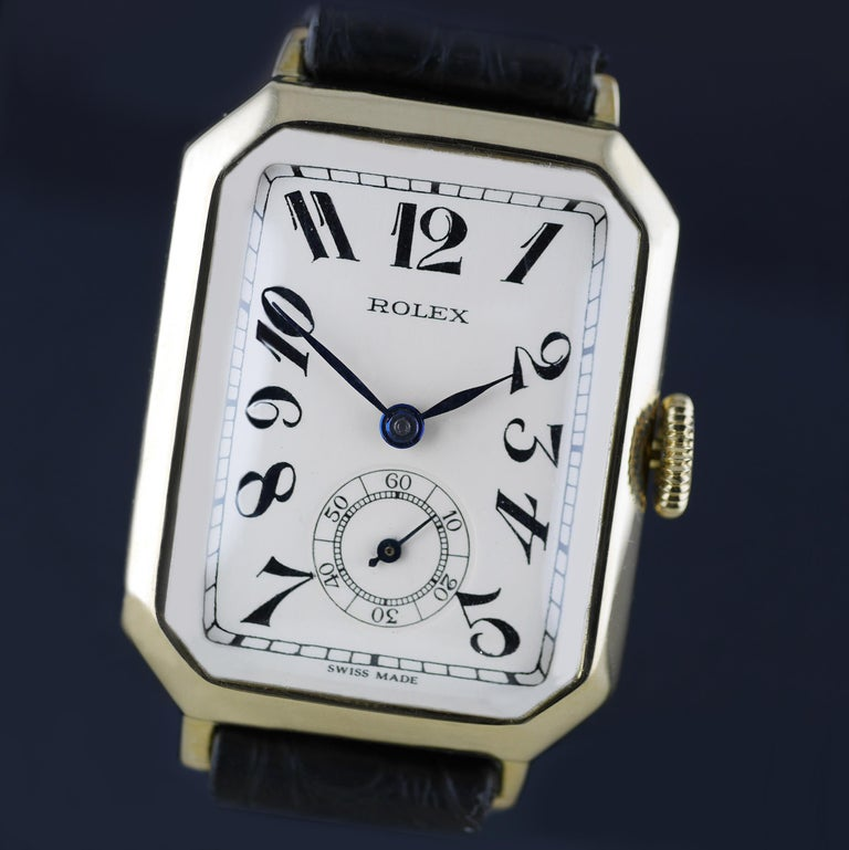 Rolex Art Deco Gold Wristwatch, 1933 In Excellent Condition For Sale In London, GB
