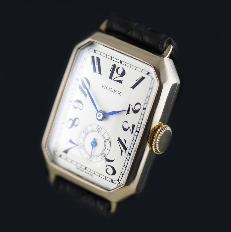 Women's or Men's Rolex Art Deco Gold Wristwatch, 1933 For Sale