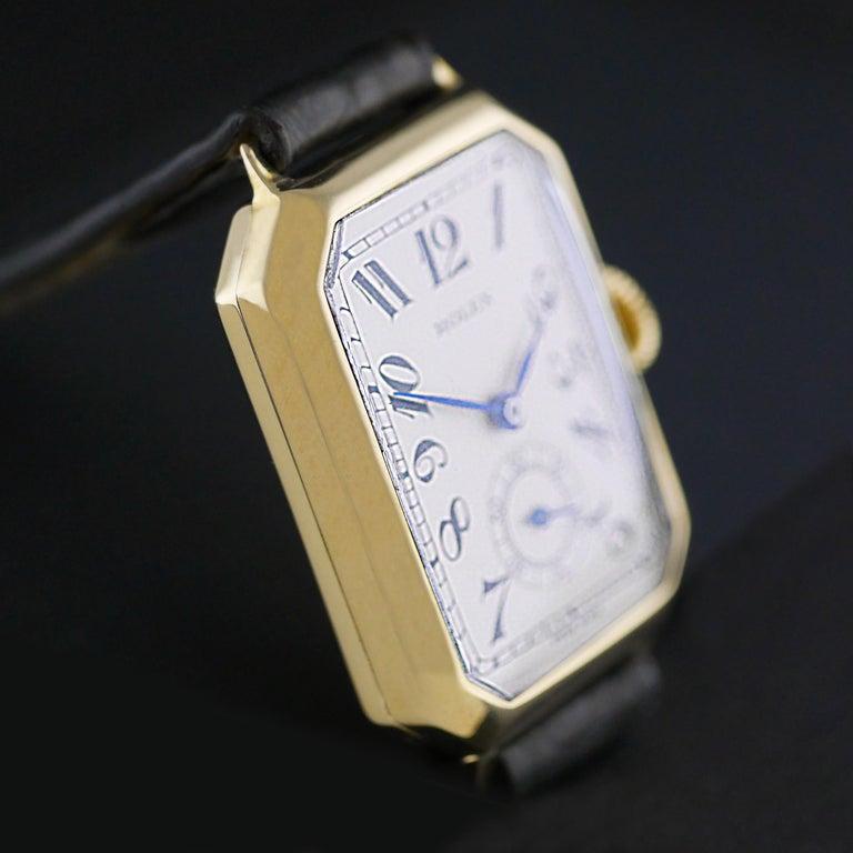 Rolex Art Deco Gold Wristwatch, 1933 For Sale 1