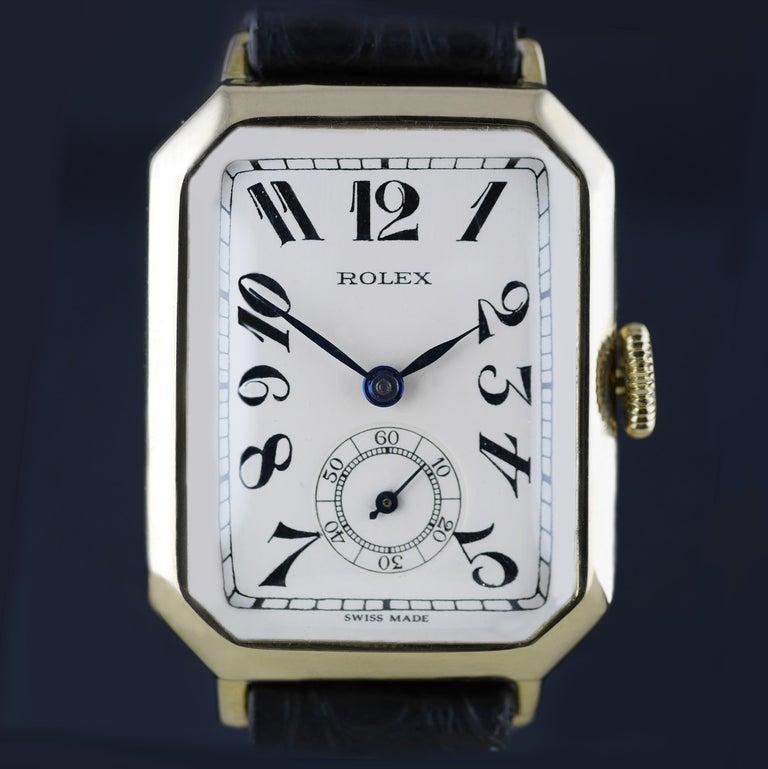 Rolex Art Deco Gold Wristwatch, 1933 For Sale 2