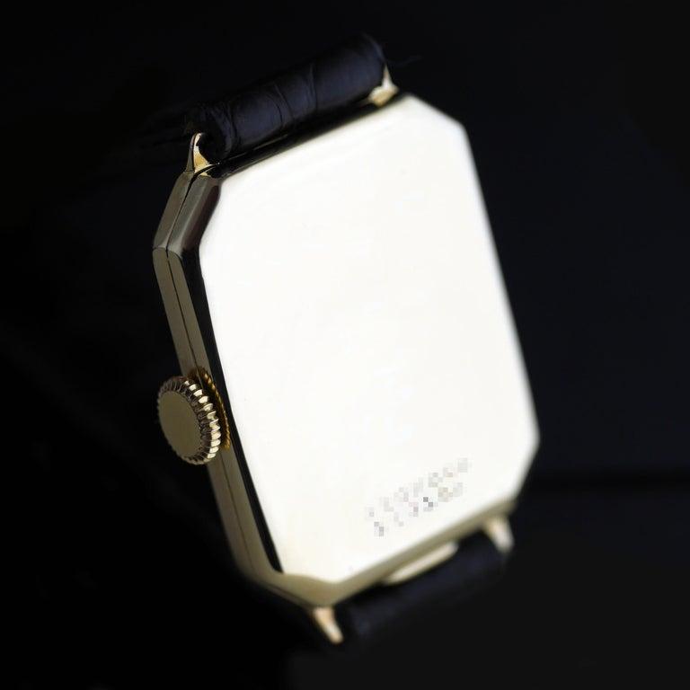 Rolex Art Deco Gold Wristwatch, 1933 For Sale 3