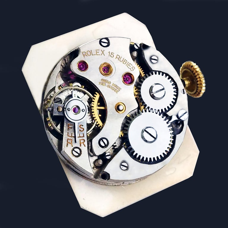 Rolex Art Deco Gold Wristwatch, 1933 For Sale 4