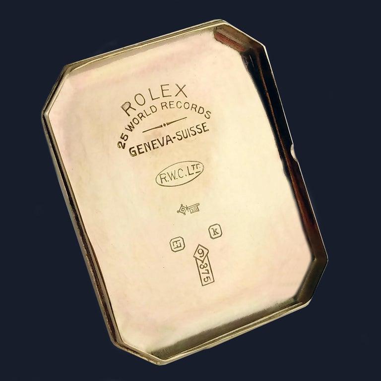 Rolex Art Deco Gold Wristwatch, 1933 For Sale 5